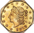 California Fractional Gold , 1853 50C Peacock Reverse 50 Cents, BG-302, Low R.4, MS64 PCGS....