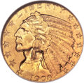 Indian Half Eagles, 1908-S $5 MS64 NGC. CAC....