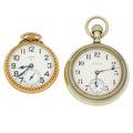Timepieces:Pocket (post 1900), Two Elgin Open Face Pocket Watches Runners. ... (Total: 2 Items)