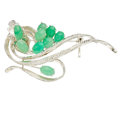 Estate Jewelry:Brooches - Pins, Jadeite Jade, White Gold Brooch. ...