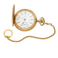 Timepieces:Pocket (post 1900), Waltham 17 Jewel Riverside Hunter's Case Pocket Watch. ...