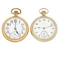 Timepieces:Pocket (post 1900), Two Elgin's Open Face Pocket Watch Runners. ... (Total: 2 Items)