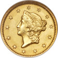 Gold Dollars, 1849 G$1 Closed Wreath MS65 NGC....