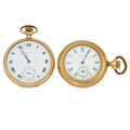 Timepieces:Pocket (post 1900), Howard & Waltham Open Face Pocket Watches. ... (Total: 2 Items)