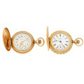 Timepieces:Pocket (post 1900), Two Waltham's Hunter's Case Pocket Watches Runners. ... (Total: 2 Items)