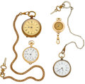 Timepieces:Pendant , A Lot Of Four Open Face Watches. ... (Total: 4 Items)