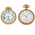 Timepieces:Pocket (post 1900), Waltham Riverside 21 Jewel & Crown 15 Jewel Open Face Pocket Watches Runners. ... (Total: 2 Items)