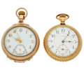 Timepieces:Pocket (post 1900), Waltham 21 Jewel Crescent St. & Waltham P.S. Bartlett 17 JewelPocket Watches. ... (Total: 2 Items)