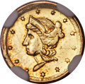 California Fractional Gold , 1854 50C Liberty Round 50 Cents, BG-436, R.6, MS61 NGC....