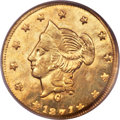 California Fractional Gold , 1871 $1 Liberty Round Dollar, BG-1204, High R.5, MS63 PCGS....