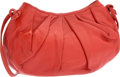 """Luxury Accessories:Bags, Judith Leiber Red Leather Shoulder Bag. Very Good Condition.8.5"""" Width x 5"""" Height x 2.5"""" Depth. ..."""