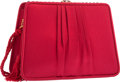 "Luxury Accessories:Bags, Judith Leiber Red Silk Evening Bag. Excellent Condition.7.5"" Width x 5"" Height x 3"" Depth. ..."