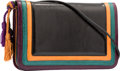 "Luxury Accessories:Bags, Judith Leiber Black & Multicolor Lizard Shoulder Bag. Goodto Very Good Condition. 9.5"" Width x 5.5"" Height x 2""Depth..."