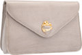 "Luxury Accessories:Bags, Judith Leiber Gray Lizard Clutch Bag. Excellent Condition.10.5"" Width x 6.5"" Height x 2.5"" Depth. ..."
