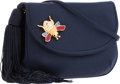 "Luxury Accessories:Bags, Judith Leiber Navy Satin Evening Bag. Good Condition. 6.5"" Width x 4.5"" Height x 2"" Depth. ..."