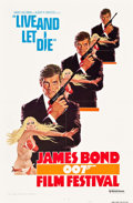"Movie Posters:James Bond, James Bond Film Festival - Live and Let Die (United Artists,R-1976). One Sheet (27"" X 41"") Style A. James Bond.. ..."