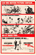 "Movie Posters:James Bond, Thunderball/You Only Live Twice Combo (United Artists, R-1971).Poster (40"" X 60""). James Bond.. ..."