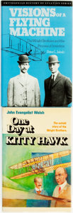 Books:Biography & Memoir, [The Wright Brothers, subject]. Pair of Biographies. Titles include: John Evangelist Walsh. One Day at Kitty Hawk.... (Total: 2 Items)