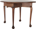 Furniture : American, A Kittinger Colonial Williamsburg Queen Anne-Style Drop-Leaf Table,circa 1960. Marks: KITTINGER, WILLIAMSBURG, (logotyp...