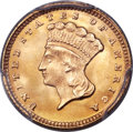 Gold Dollars, 1874 G$1 MS67+ PCGS. CAC. Breen-6094....