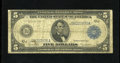 Large Size:Federal Reserve Notes, Fr. 883a $5 1914 Federal Reserve Note Very Good. A tear is found in Lincoln's hair....