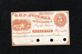Obsoletes By State:Ohio, Petersburg, OH- O.H.P. Swisher 5¢ 186_. This example grades ChoiceCrisp Uncirculated, PC....