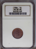 Indian Cents: , 1886 1C Type One MS66 Red and Brown NGC. NGC Census: (5/0). Mintage: 17,654,290. (#2155)...