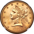 Liberty Eagles, 1899-S $10 MS64+ NGC. CAC....