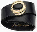 "Luxury Accessories:Accessories, Judith Leiber Black Karung Belt with Gold Hardware. Very GoodCondition. 2"" Width x 20"" - 37"" Adjustable Length. ..."