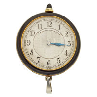 C.H. Meylan 18k Gold, Diamond & Enamel Pendant Watch
