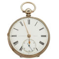 Timepieces:Pocket (pre 1900) , J.B. Yabsley London Lever Fusee Pocket Watch. ...