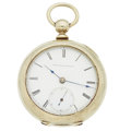 Timepieces:Pocket (pre 1900) , Elgin Early G.M. Wheeler 15 Jewel Pocket Watch. ...