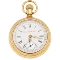 Timepieces:Pocket (post 1900), Elgin Fancy Dial 18 Size Pocket Watch. ...