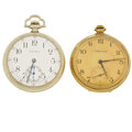 Timepieces:Pocket (post 1900), Waltham & Hamilton, Two Runners. ... (Total: 2 Items)