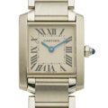 "Timepieces:Wristwatch, Cartier Lady's Steel ""Tank Francaise"" Wristwatch. ..."