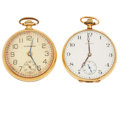 Timepieces:Pocket (post 1900), South Bend 21 Jewel Studebaker & Howard 17 Jewel. ... (Total: 2 Items)