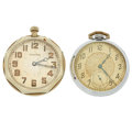 "Timepieces:Pocket (post 1900), Langendorf ""Stratford"" and Waltham 12 Size. ... (Total: 2 Items)"