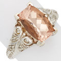 Estate Jewelry:Rings, Morganite, Diamond, White Gold Ring. ...