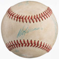 Baseball Collectibles:Hats, Harry Caray and Others Multi Signed Game Used Baseball....