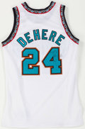 Basketball Collectibles:Uniforms, 1998-99 Terry Dehere Game Worn, Signed Memphis Grizzlies Jersey....