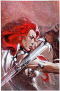 Original Comic Art:Covers, Gabriele Dell'Otto Red Sonja vs. Thulsa Doom #4 Cover-APainting Original Art (Dynamite Entertainment, 2006)....