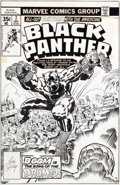 Original Comic Art:Covers, Jack Kirby and Ernie Chan Black Panther #7 Cover Original Art (Marvel, 1978)....