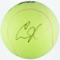 Miscellaneous Collectibles:General, Anna Kournikova Signed Oversized Tennis Ball....