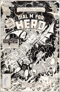 "Original Comic Art:Covers, George Perez Adventure Comics #486 ""Dial H for Hero"" CoverOriginal Art (DC, 1981)...."