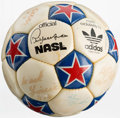 Miscellaneous Collectibles:General, 1970's New York Cosmos Team Signed Soccer Ball - With Pele!...