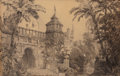 Fine Art - Work on Paper:Drawing, Carlo Ferrario (Italian, 1833-1907). The Gardens of a Villa.Pencil on paper. 8-1/4 x 12-3/4 inches (21.0 x 32.4 cm) (si...