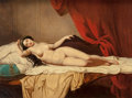 Fine Art - Painting, European:Antique  (Pre 1900), French School (19th Century). Odalisque. Oil on canvas. 27 x35 inches (68.6 x 88.9 cm). ...