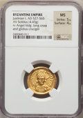 Ancients:Byzantine, Ancients: Justinian I the Great (AD 527-565). AV solidus (21mm,4.43 gm, 6h)....