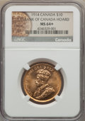 Canada: George V gold 10 Dollars 1914 MS64+ NGC
