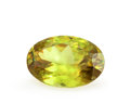 Gems:Faceted, Gemstone: Sphene - 3.96 Ct.. Sri Lanka. 12.5 x 8.5 x 4.9 mm. ...